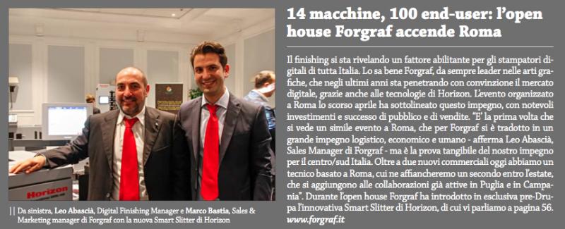 Forgraf Roma Open House 2016